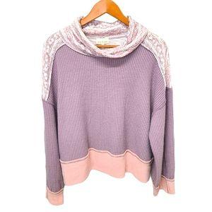 Belle du Jour Oversized Boho print sweater